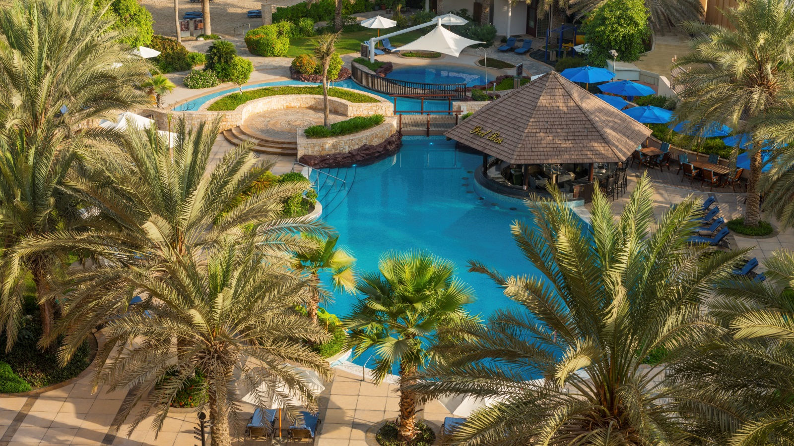 Outdoor pool at Sheraton Abu Dhabit Hotel & Resort